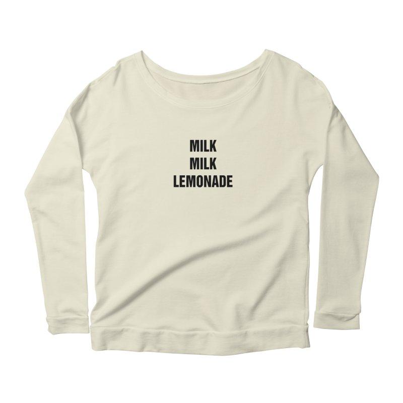 """SIDE EYE/""""Milk, Milk"""" (Black) Women's Scoop Neck Longsleeve T-Shirt by Josh Sabarra's Shop"""