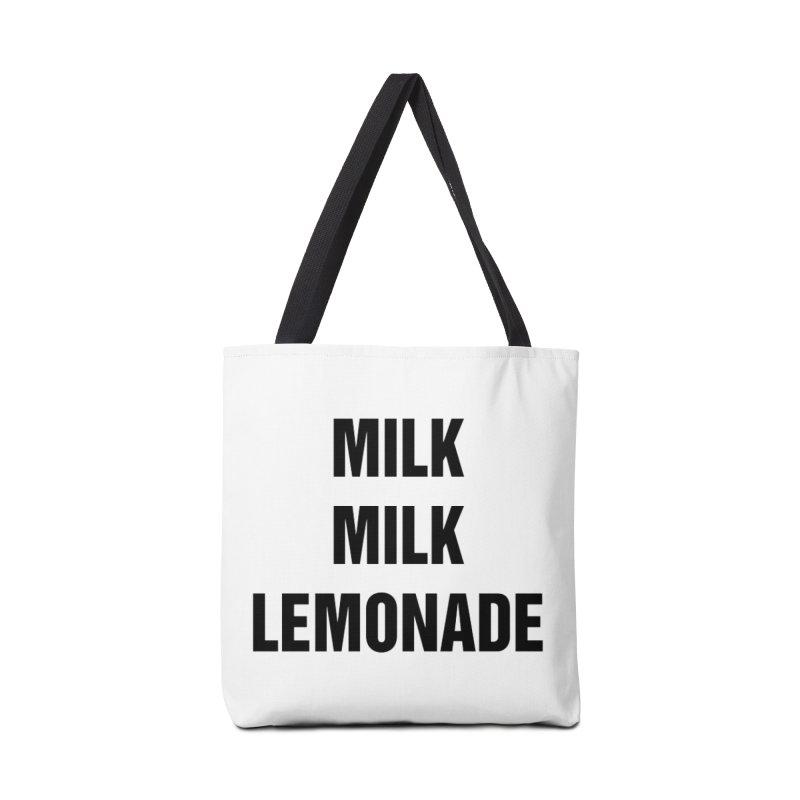 """SIDE EYE/""""Milk, Milk"""" (Black) Accessories Bag by Josh Sabarra's Shop"""
