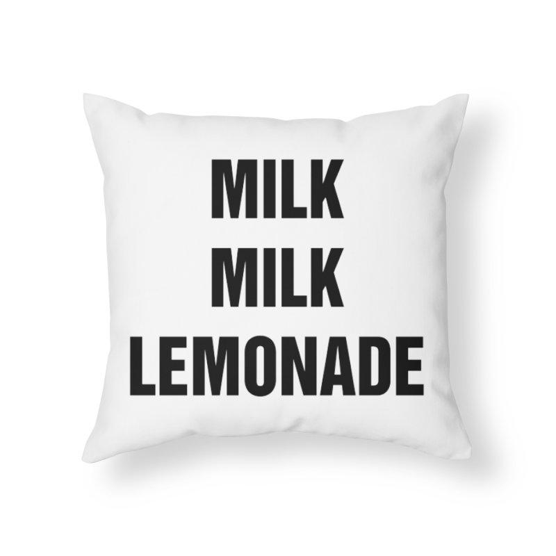 "SIDE EYE/""Milk, Milk"" (Black) Home Throw Pillow by Josh Sabarra's Shop"