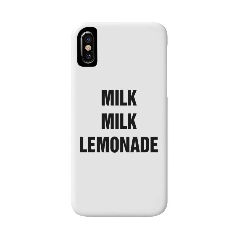 """SIDE EYE/""""Milk, Milk"""" (Black) Accessories Phone Case by Josh Sabarra's Shop"""