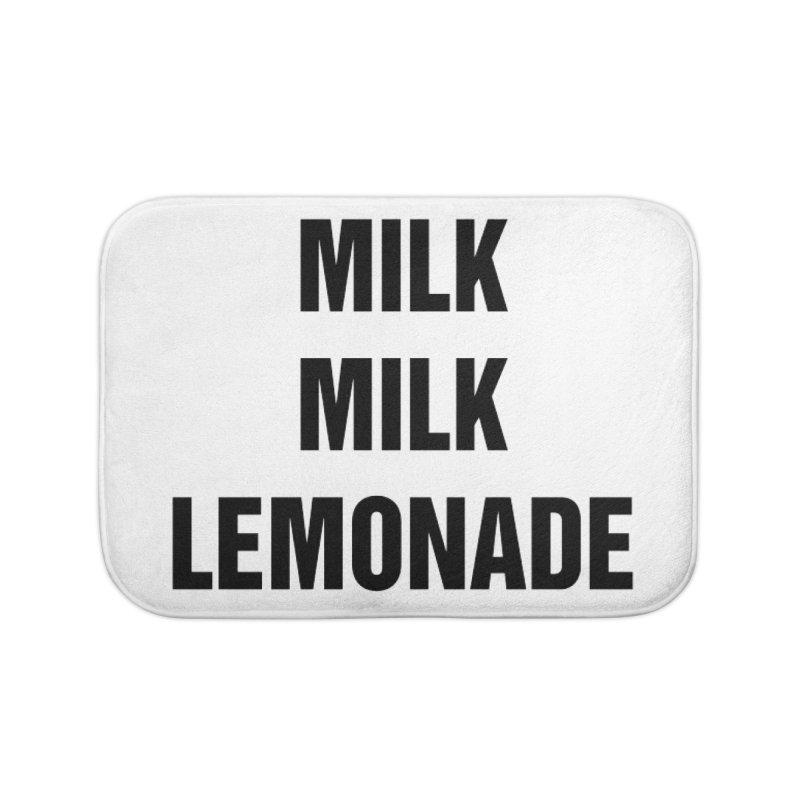 "SIDE EYE/""Milk, Milk"" (Black) Home Bath Mat by Josh Sabarra's Shop"