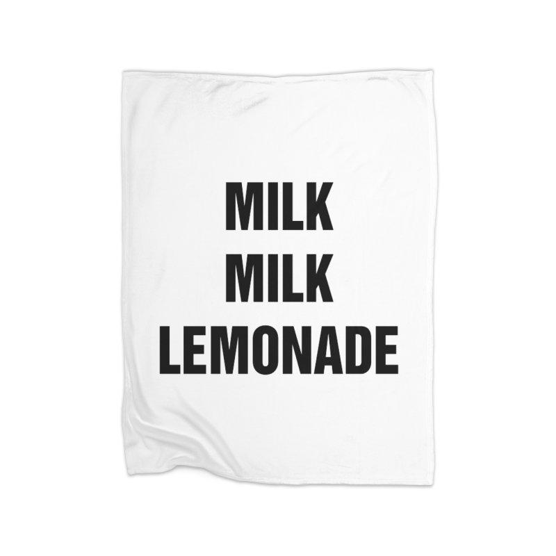 "SIDE EYE/""Milk, Milk"" (Black) Home Blanket by Josh Sabarra's Shop"