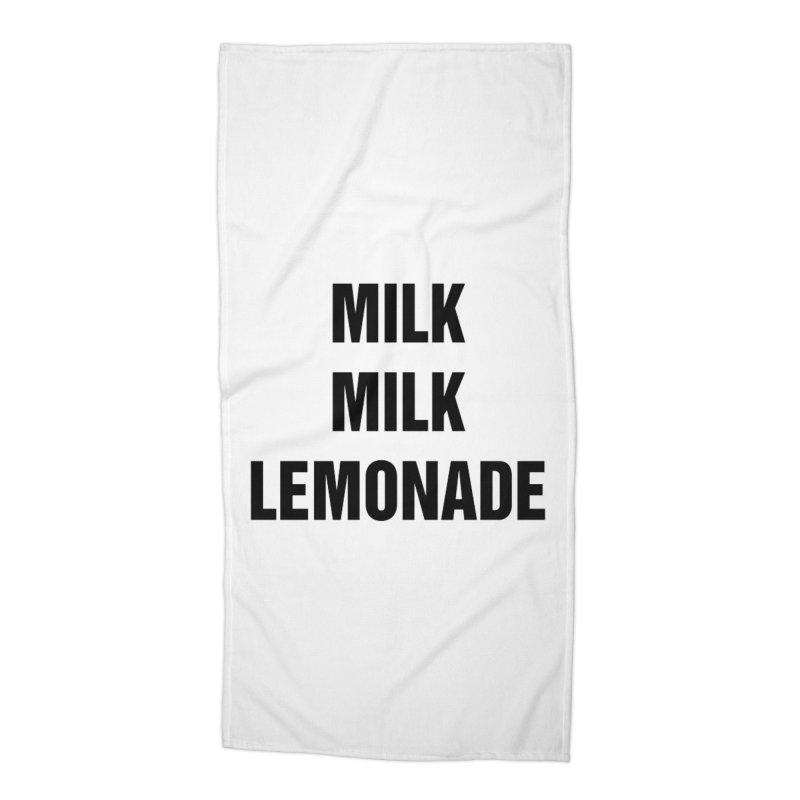 "SIDE EYE/""Milk, Milk"" (Black) Accessories Beach Towel by Josh Sabarra's Shop"