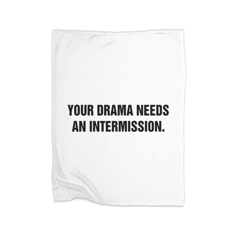 "SIDE EYE/""Drama"" (Black) Home Blanket by Josh Sabarra's Shop"