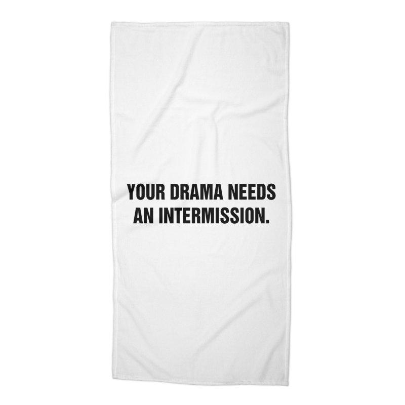 "SIDE EYE/""Drama"" (Black) Accessories Beach Towel by Josh Sabarra's Shop"