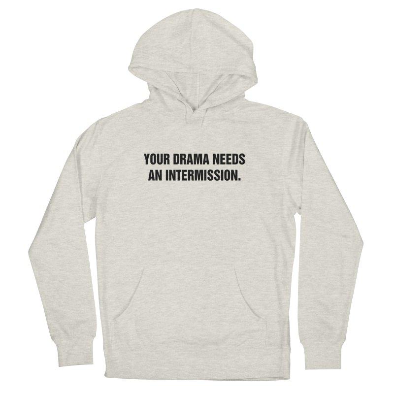 "SIDE EYE/""Drama"" (Black) Women's French Terry Pullover Hoody by Josh Sabarra's Shop"