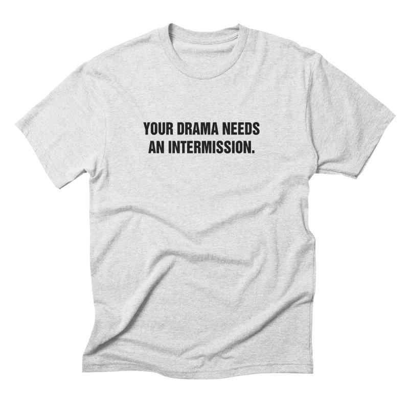 "SIDE EYE/""Drama"" (Black) Men's Triblend T-Shirt by Josh Sabarra's Shop"