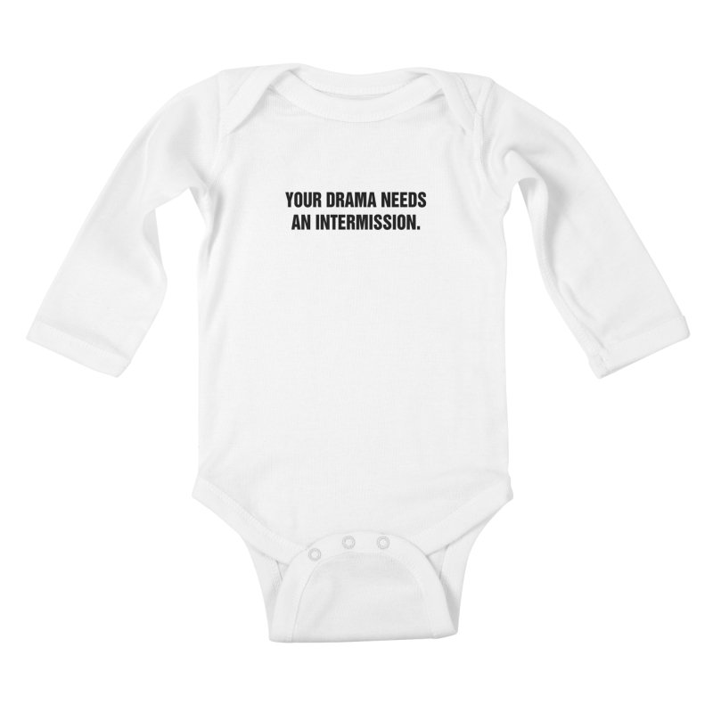 "SIDE EYE/""Drama"" (Black) Kids Baby Longsleeve Bodysuit by Josh Sabarra's Shop"