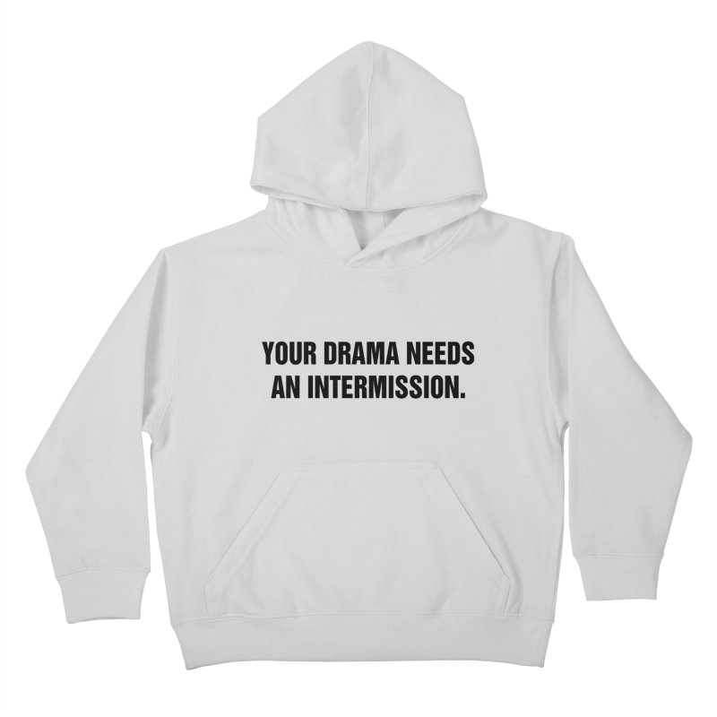 "SIDE EYE/""Drama"" (Black) Kids Pullover Hoody by Josh Sabarra's Shop"
