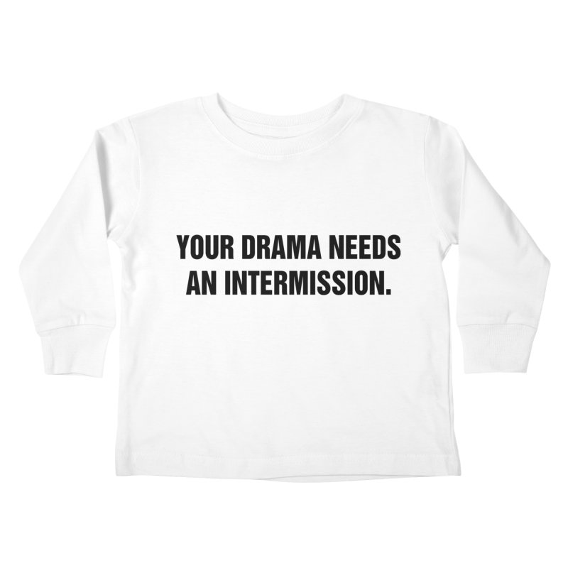 "SIDE EYE/""Drama"" (Black) Kids Toddler Longsleeve T-Shirt by Josh Sabarra's Shop"