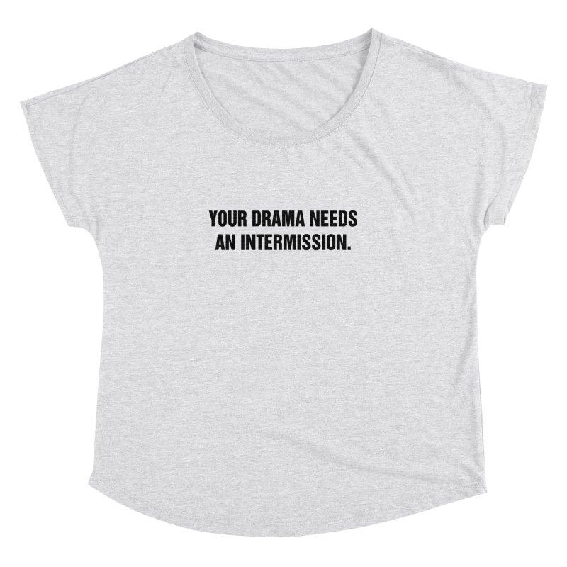 """SIDE EYE/""""Drama"""" (Black) Women's Dolman Scoop Neck by Josh Sabarra's Shop"""