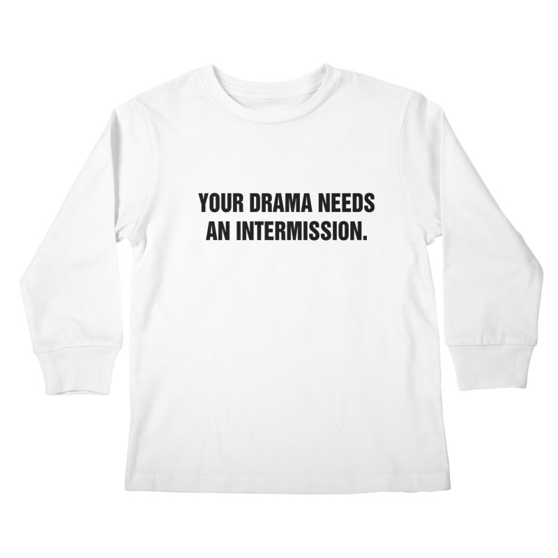 "SIDE EYE/""Drama"" (Black) Kids Longsleeve T-Shirt by Josh Sabarra's Shop"