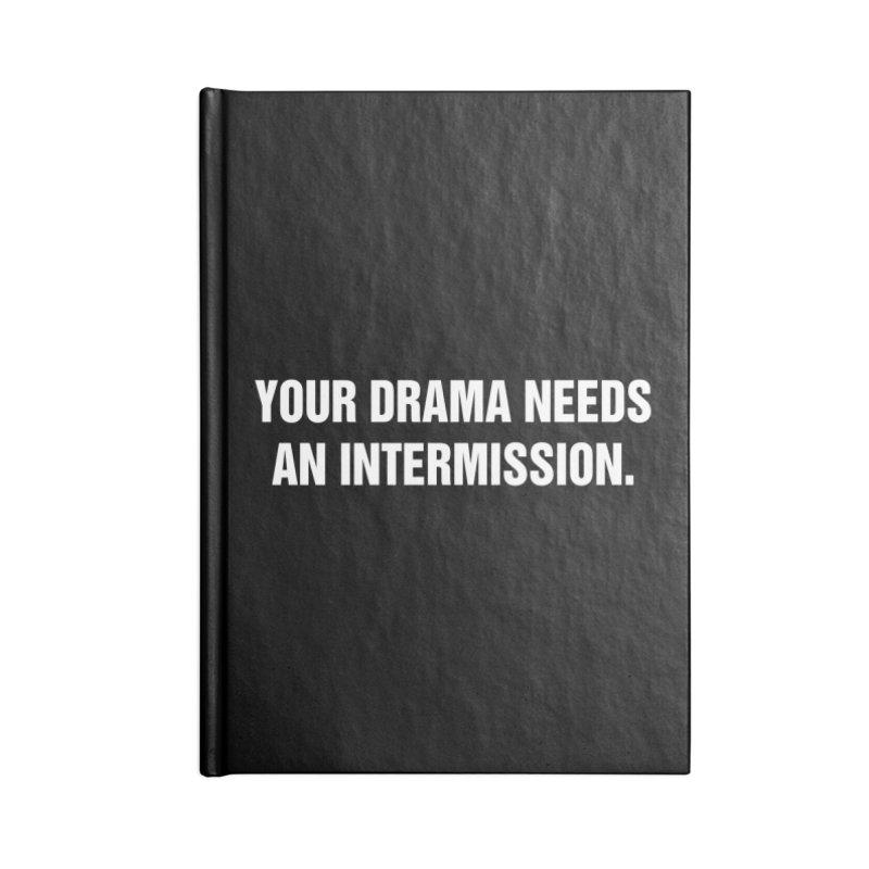 """SIDE EYE/""""Drama"""" (White) Accessories Notebook by Josh Sabarra's Shop"""