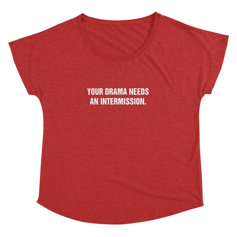"SIDE EYE/""Drama"" (White) Women's Dolman Scoop Neck by Josh Sabarra's Shop"