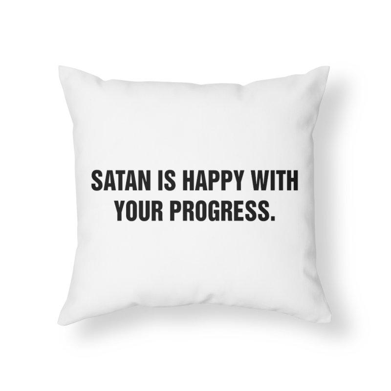 "SIDE EYE/""Satan"" (Black) Home Throw Pillow by Josh Sabarra's Shop"