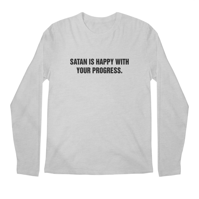 "SIDE EYE/""Satan"" (Black) Men's Regular Longsleeve T-Shirt by Josh Sabarra's Shop"