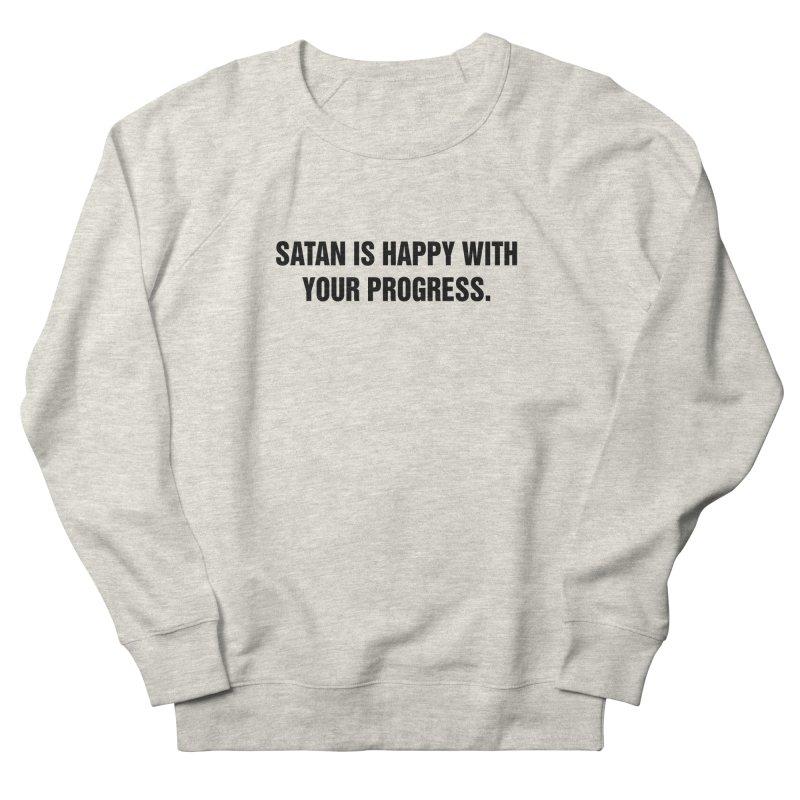 "SIDE EYE/""Satan"" (Black) Men's French Terry Sweatshirt by Josh Sabarra's Shop"