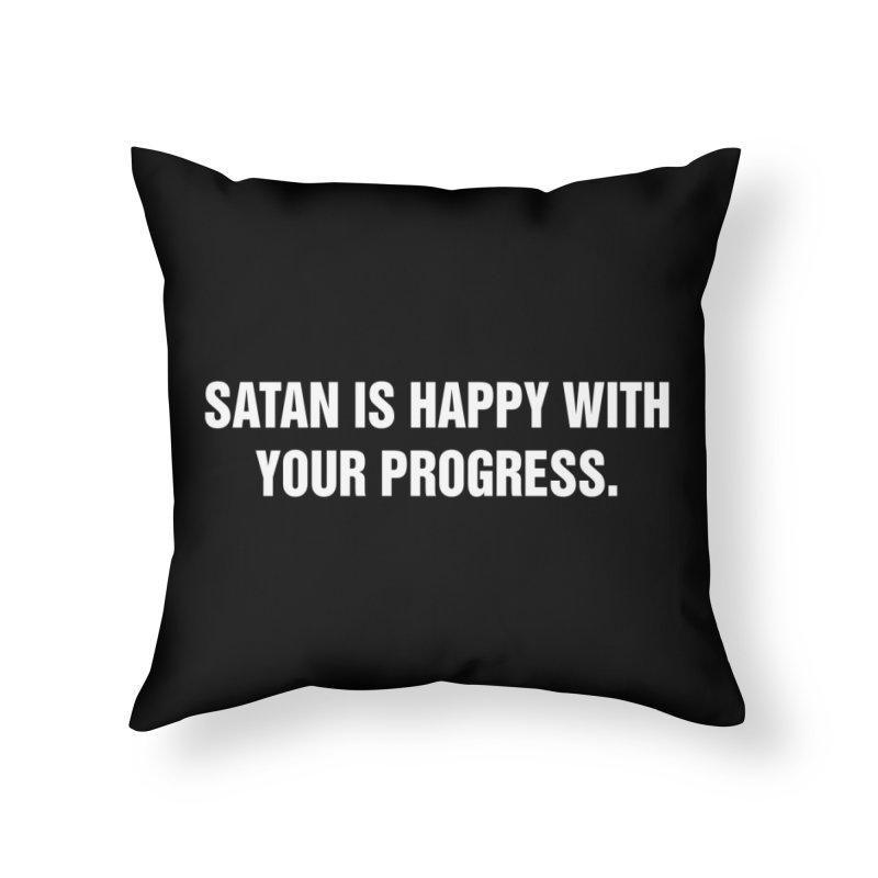 "SIDE EYE/""Satan"" (White) Home Throw Pillow by Josh Sabarra's Shop"