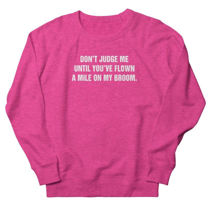 "SIDE EYE/""Broom"" (White) Men's French Terry Sweatshirt by Josh Sabarra's Shop"