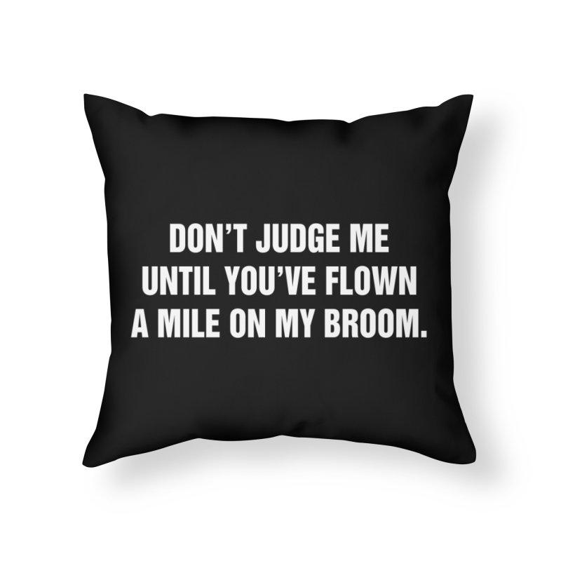 "SIDE EYE/""Broom"" (White) Home Throw Pillow by Josh Sabarra's Shop"