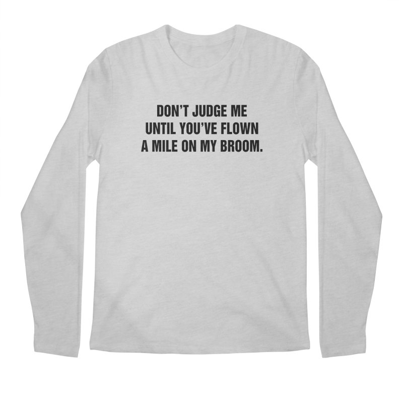 "SIDE EYE/""Broom"" (Black) Men's Regular Longsleeve T-Shirt by Josh Sabarra's Shop"