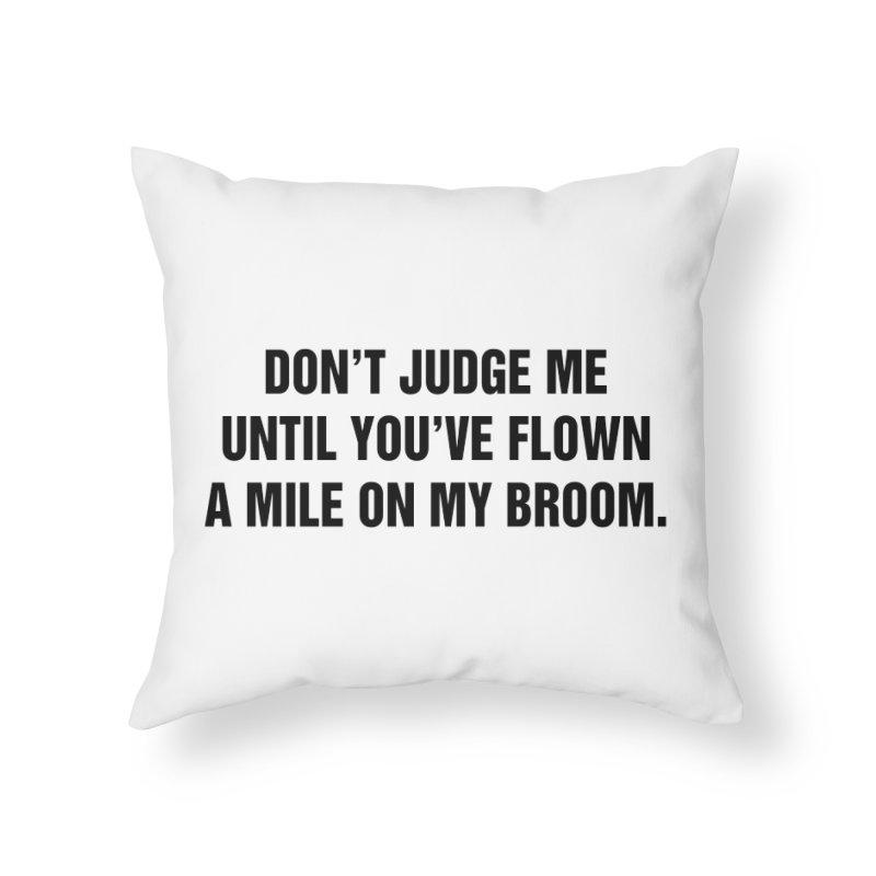 "SIDE EYE/""Broom"" (Black) Home Throw Pillow by Josh Sabarra's Shop"