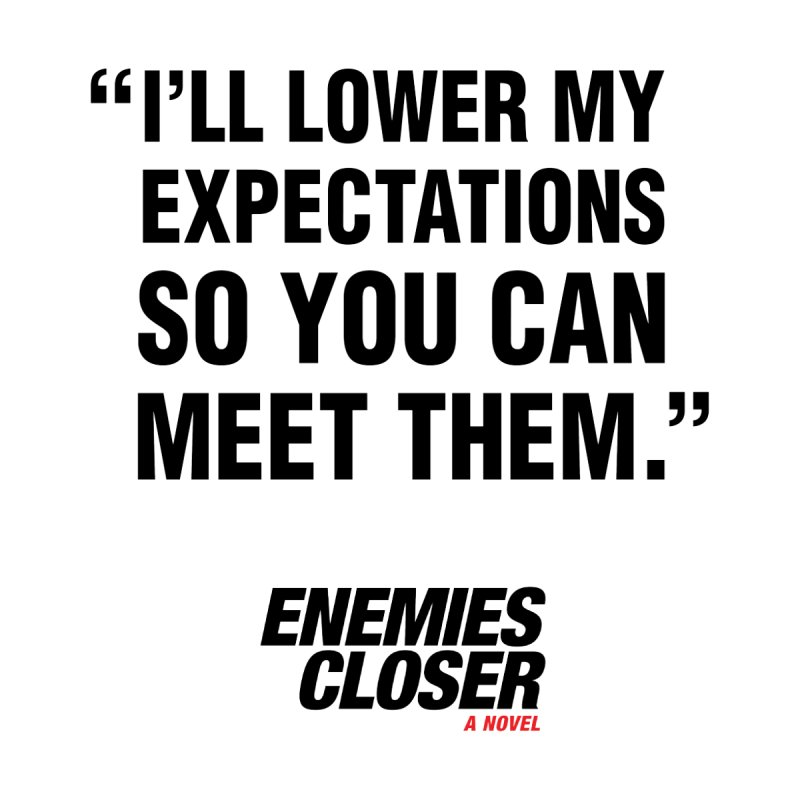 """ENEMIES CLOSER/""""Lowered Expectations"""" (Black) by Josh Sabarra's Shop"""