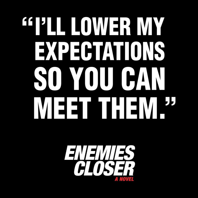 "ENEMIES CLOSER/""Lowered Expectations"" (White) Women's Tank by Josh Sabarra's Shop"