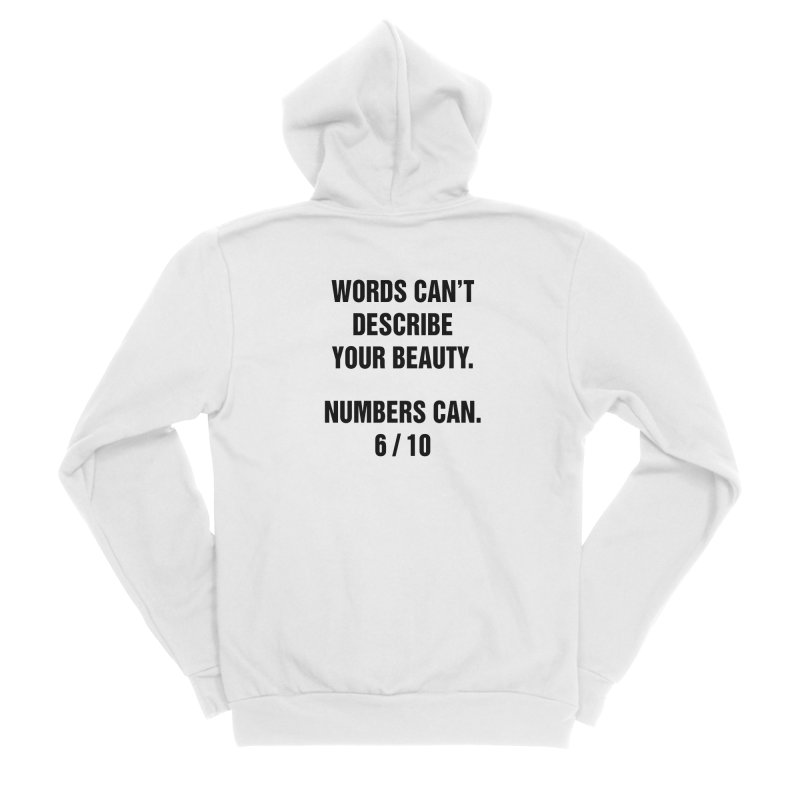 "SIDE EYE/""Beautiful Words"" (Black) Women's Sponge Fleece Zip-Up Hoody by Josh Sabarra's Shop"