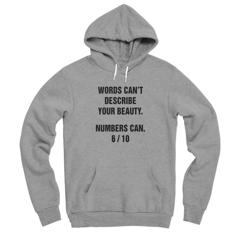 """SIDE EYE/""""Beautiful Words"""" (Black) Men's Sponge Fleece Pullover Hoody by Josh Sabarra's Shop"""