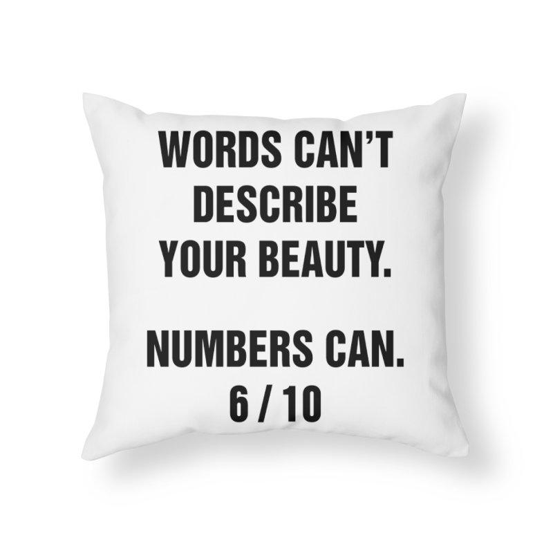 "SIDE EYE/""Beautiful Words"" (Black) Home Throw Pillow by Josh Sabarra's Shop"