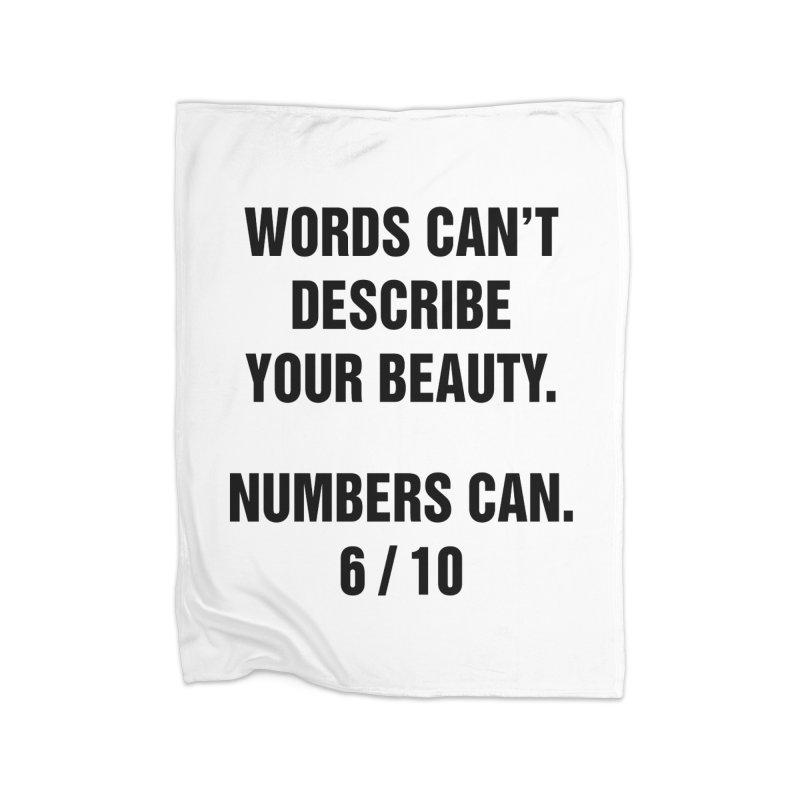 "SIDE EYE/""Beautiful Words"" (Black) Home Blanket by Josh Sabarra's Shop"