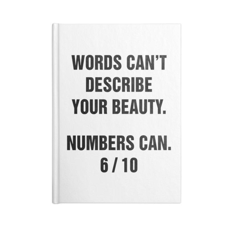 "SIDE EYE/""Beautiful Words"" (Black) Accessories Notebook by Josh Sabarra's Shop"