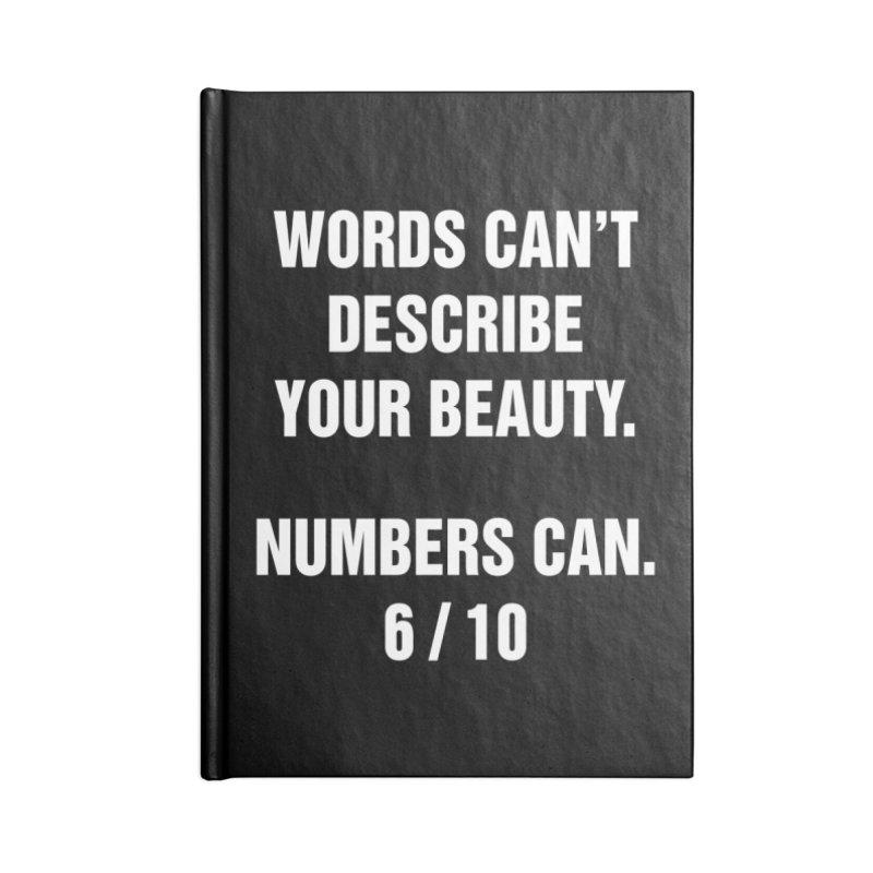 "SIDE EYE/""Beautiful Words"" (White) Accessories Notebook by Josh Sabarra's Shop"