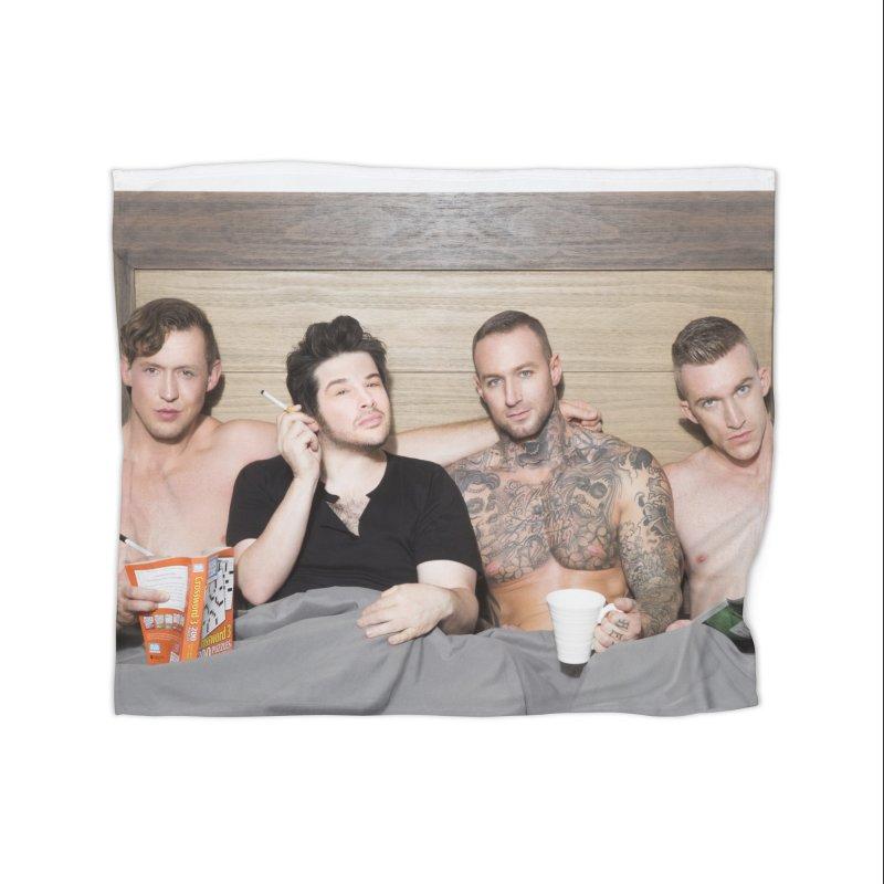 "PORN AGAIN/""In Bed with Josh Sabarra, Pierce Paris, Dylan James & Nick Fitt"" Home Blanket by Josh Sabarra's Shop"
