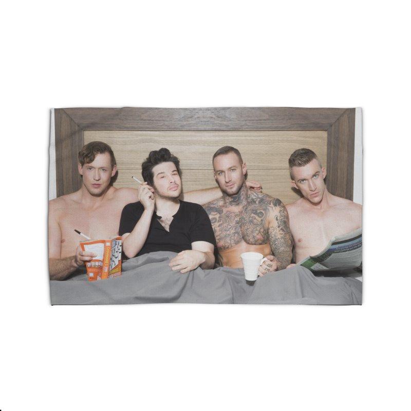 "PORN AGAIN/""In Bed with Josh Sabarra, Pierce Paris, Dylan James & Nick Fitt"" Home Rug by Josh Sabarra's Shop"
