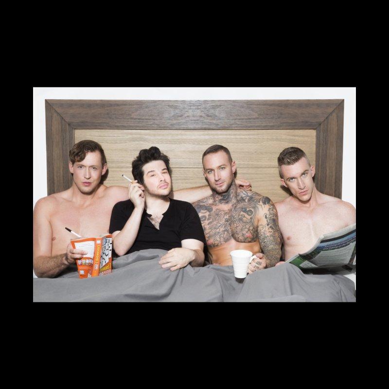 "PORN AGAIN/""In Bed with Josh Sabarra, Pierce Paris, Dylan James & Nick Fitt"" Home Fine Art Print by Josh Sabarra's Shop"