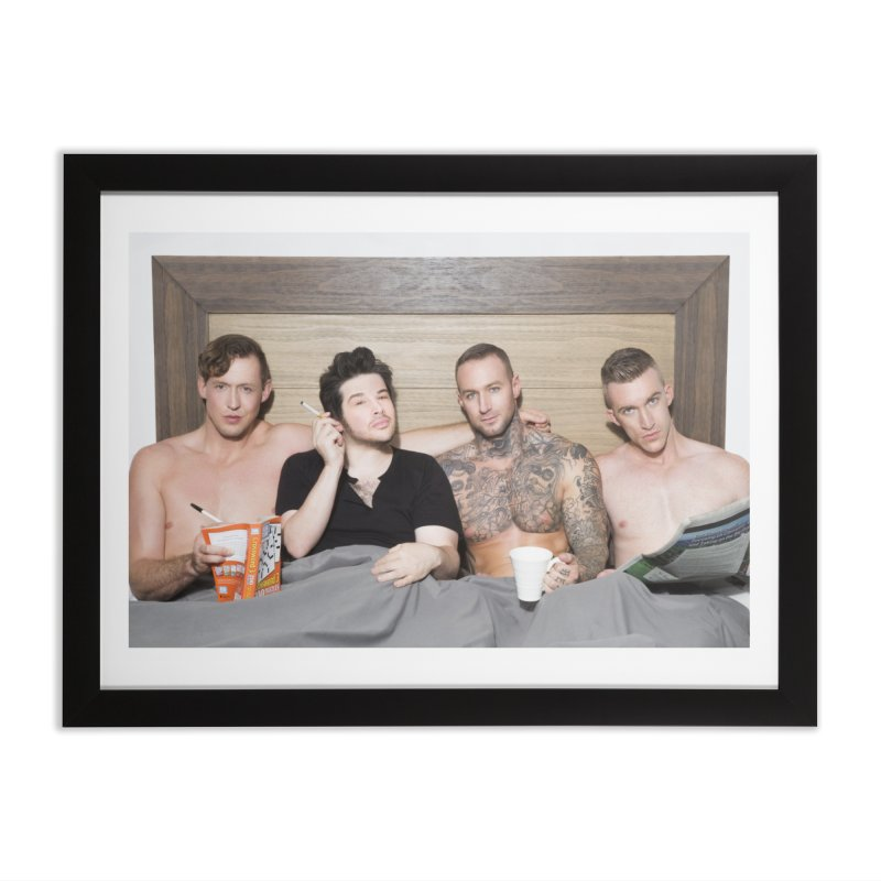 "PORN AGAIN/""In Bed with Josh Sabarra, Pierce Paris, Dylan James & Nick Fitt"" Home Framed Fine Art Print by Josh Sabarra's Shop"