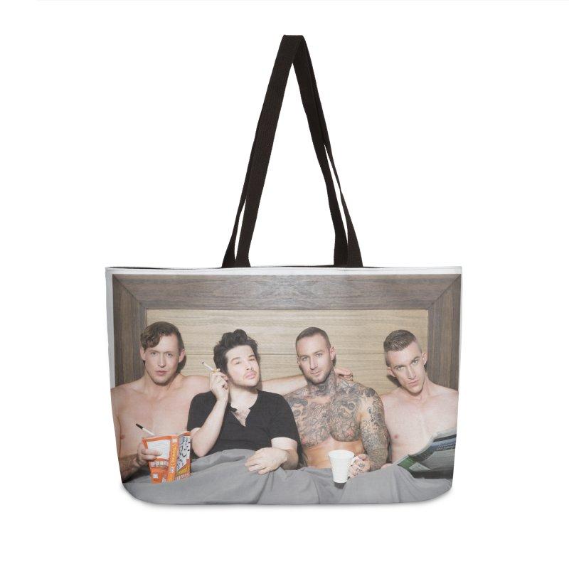 "PORN AGAIN/""In Bed with Josh Sabarra, Pierce Paris, Dylan James & Nick Fitt"" Accessories Bag by Josh Sabarra's Shop"