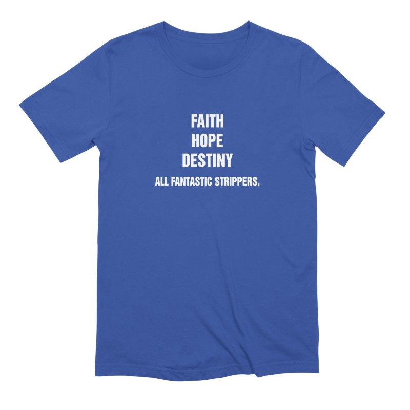 "SIDE EYE/""Faith, Hope & Destiny"" (White) Men's Extra Soft T-Shirt by Josh Sabarra's Shop"