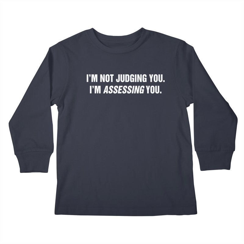 "SIDE EYE/""Judging"" (White) Kids Longsleeve T-Shirt by Josh Sabarra's Shop"