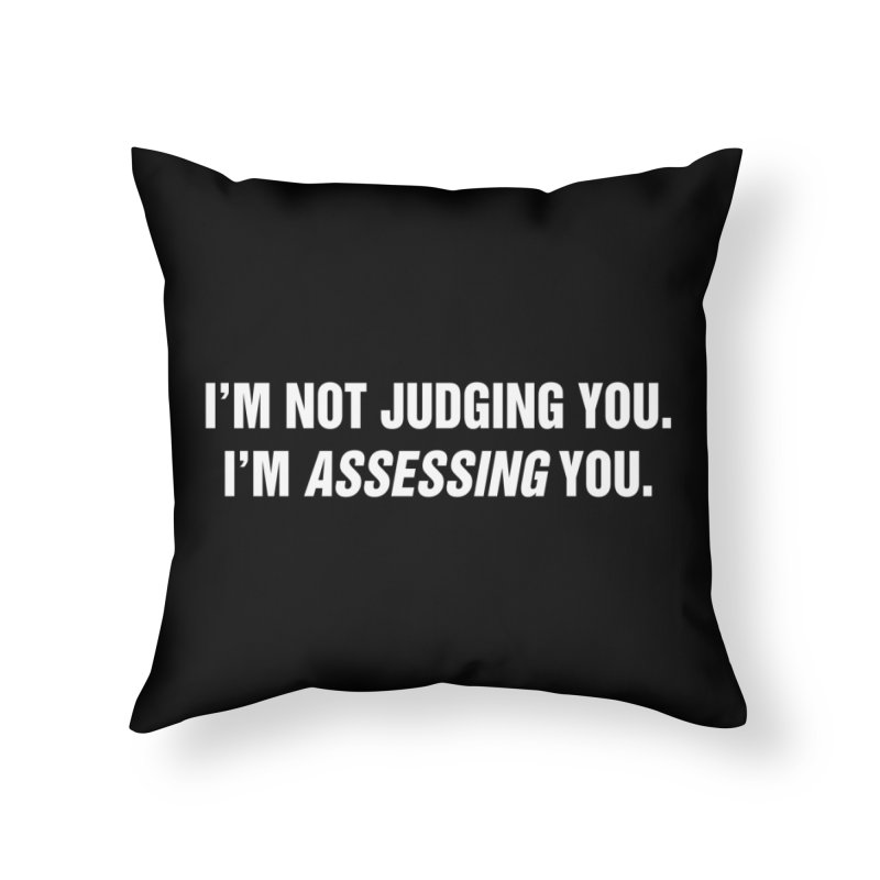 "SIDE EYE/""Judging"" (White) Home Throw Pillow by Josh Sabarra's Shop"