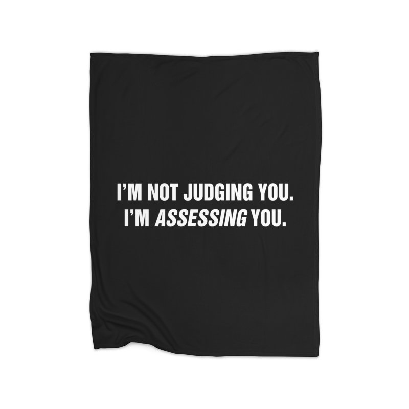 "SIDE EYE/""Judging"" (White) Home Blanket by Josh Sabarra's Shop"