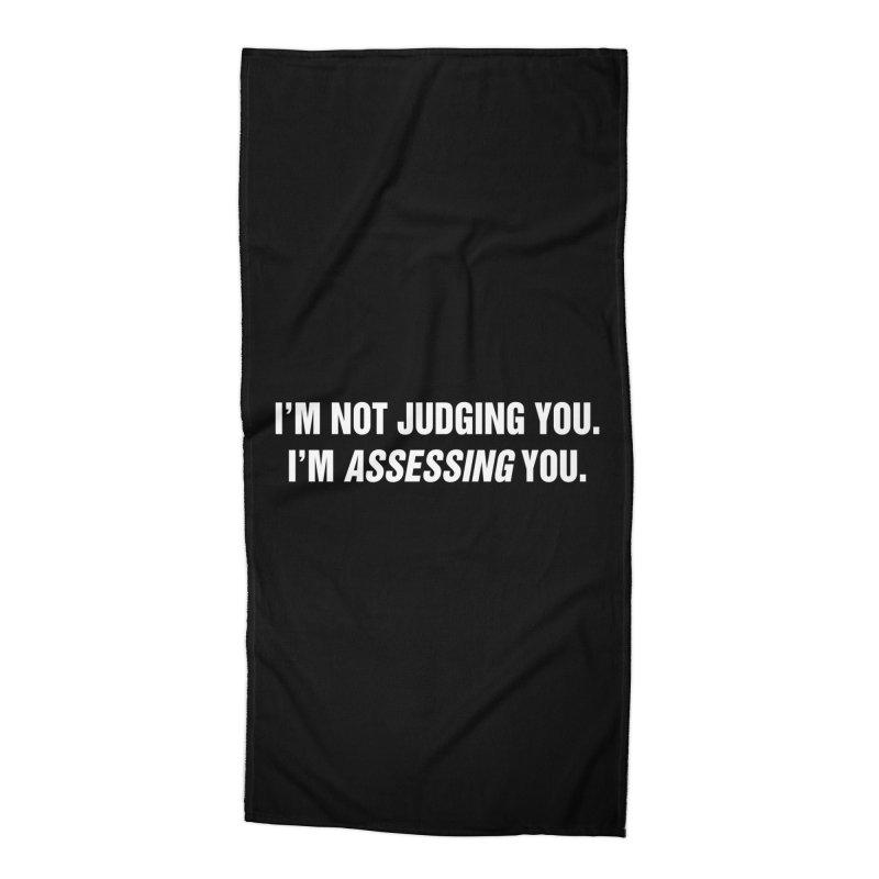 """SIDE EYE/""""Judging"""" (White) Accessories Beach Towel by Josh Sabarra's Shop"""