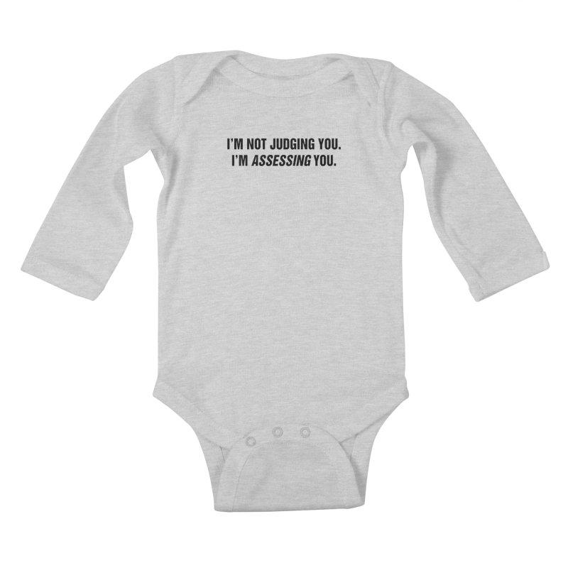 """SIDE EYE/""""Judging"""" (Black) Kids Baby Longsleeve Bodysuit by Josh Sabarra's Shop"""