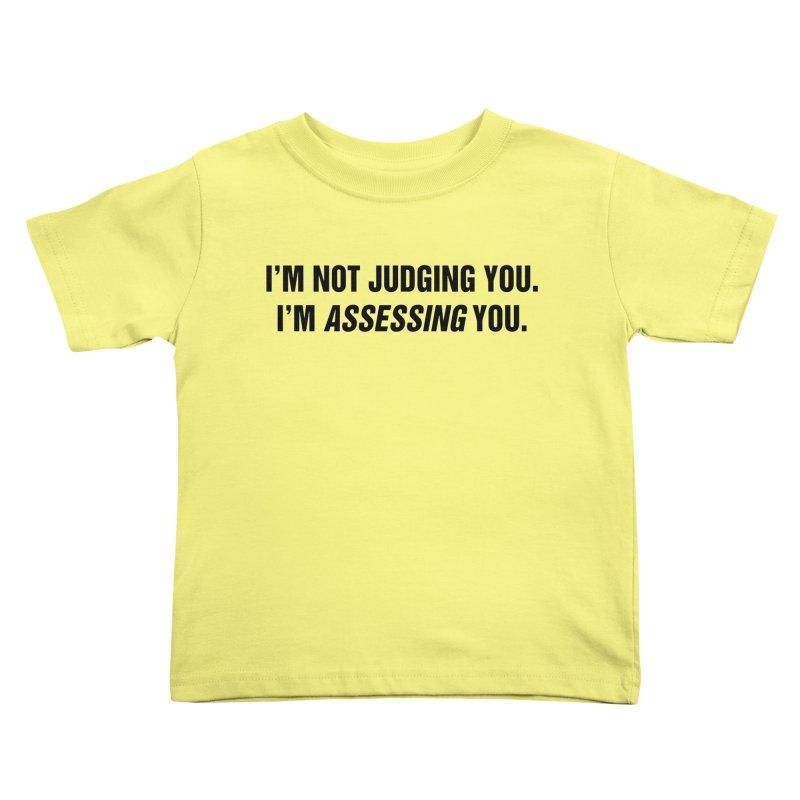 "SIDE EYE/""Judging"" (Black) Kids Toddler T-Shirt by Josh Sabarra's Shop"