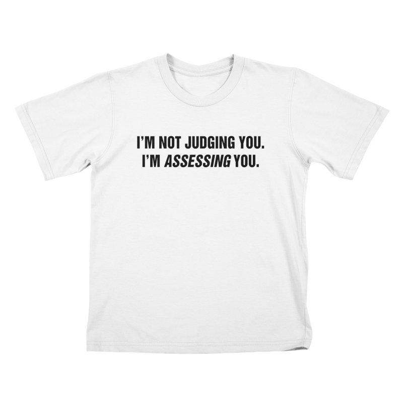 "SIDE EYE/""Judging"" (Black) Kids T-Shirt by Josh Sabarra's Shop"