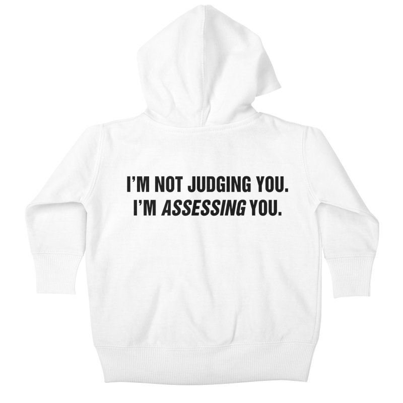 "SIDE EYE/""Judging"" (Black) Kids Baby Zip-Up Hoody by Josh Sabarra's Shop"