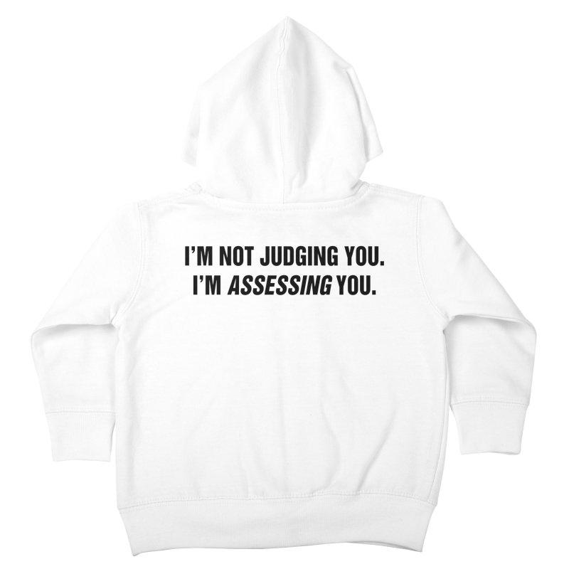 "SIDE EYE/""Judging"" (Black) Kids Toddler Zip-Up Hoody by Josh Sabarra's Shop"