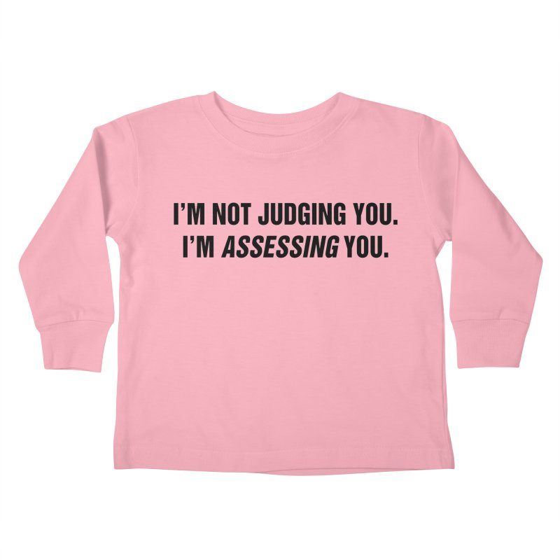 "SIDE EYE/""Judging"" (Black) Kids Toddler Longsleeve T-Shirt by Josh Sabarra's Shop"